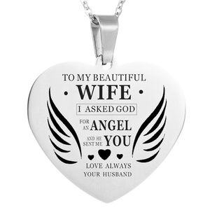 Jewelry - To My Beautiful Wife Stainless Steel Necklace New